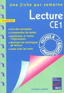 Lecture ; Ce1 ; Fiches A Photocopier