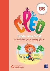 Cleo ; Entree Dans L'ecrit ; Grande Section ; Guide Pedagogique ; 160 Pages Cartonnees Predecoupees (edition 2020)