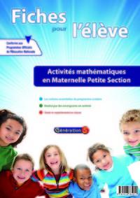 Mathematiques ; Petite Section ; Fiches Pour L'eleve