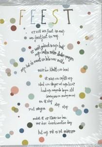 Plint set van 10 poëziekaarten 'er zit een feest in mij'