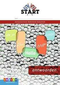 Pennenstreken Start Schrijvend leren: blokschrift Antwoordenboek