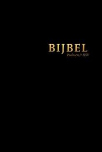 Bijbel (HSV) met Psalmen - zwart leer met goudsnee, rits en duimgrepen
