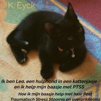 Ik ben Leo, een hulphond in een kattenjasje en ik help mijn baasje met PTSS