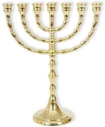 Menorah 24,5 cm goudkleur