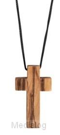 Kruis Aan Koord Olijfhout 3.5x2 Cm