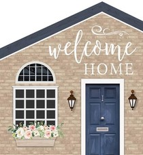 Tabletop house - 13,5 x 15 cm - Welcome home - 656200928295