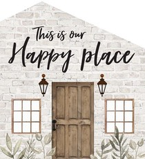 Tabletop house 13,5 x 15 cm - This is our happy place - 656200928301