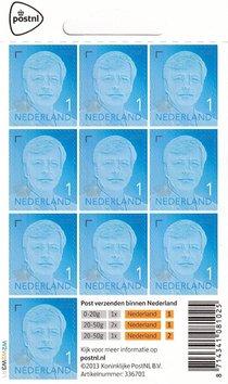 Postzegels 1 (kaartje met 10 stuks)