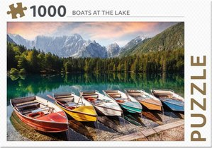 Rebo legpuzzel 1000 stukjes - Boats at the lake