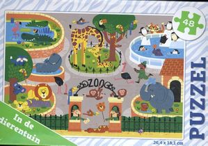 In de dierentuin - puzzel 48 stukjes