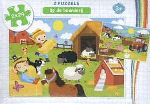 Op de boerderij - puzzel 2 x 24 stukjes