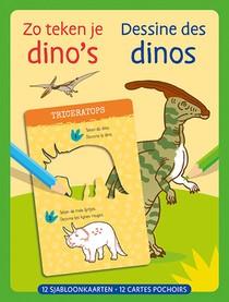 Zo Teken Je Dino's - 12 Sjabloonkaarten
