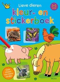 Lieve Dieren Kleur- En Stickerboek (3-5