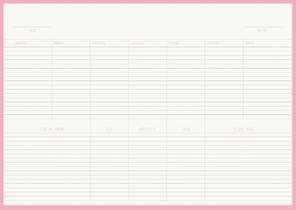 Flowers & Birds Bureauplanner