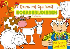 Kleuren met Opa Knoest - Boerderijdieren - 5 ex.