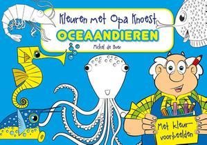 Kleuren met Opa Knoest - Oceaandieren - 5 ex.