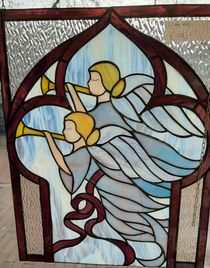 Wanddecoratie - glas in lood