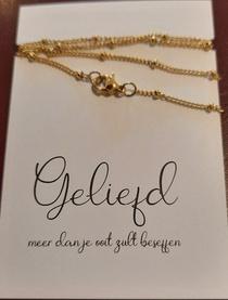 Sierraad - goudkleurig collier - Geliefd