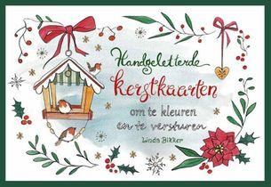 Handgeletterde Kerstkaarten Om Te Kleure