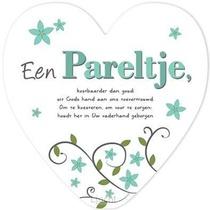 Pareltje - hartvormig wandbord - 65507701