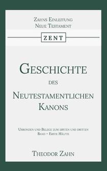 Geschichte des Neutestamentlichen Kanons 3