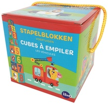 Stapelblokken - Voertuigen (+ 12 m) / Cubes à empiler - Les véhiclules (+ 12 m)