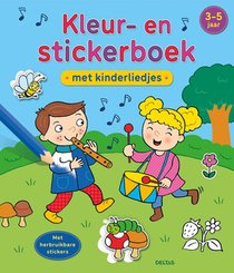 Kleur- en stickerboek met kinderliedjes 3-5 jaar