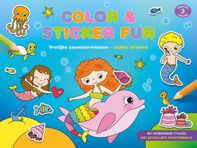 Color & Sticker Fun – Vrolijke zeemeerminnen / Color & Sticker Fun – Jolies sirènes