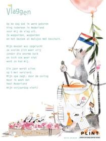 Plint 10 Poëziekaarten 'Vlaggen' Ank Mooren en Ruth Hengeveld