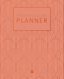Structuurjunkie planner (groot) - Perzik