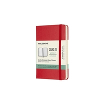 Moleskine 18 MND Agenda - 2020/21 - Wekelijks - Pocket (9x14 cm) - Scarlet Red - Harde Kaft