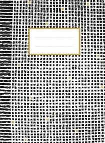 Zwart-wit-goud schrift (ruiten) / Cahier noir-blanc-or (quadrillé)