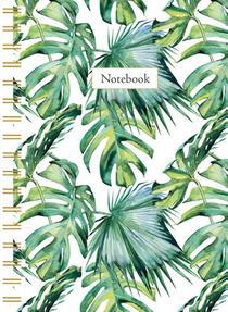 Leaves spiraalboek klein (ruiten) / Leaves petit carnet à spirale (quadrille)