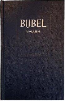 Bijbel schoolbijbel + psalmen en 12 gezangen Ritmisch. Statenvertaling stevig kunstleer blauw