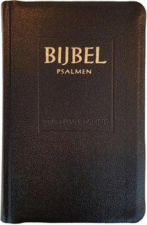 Major Statenvertaling Psalmen 12 gezangen zwart kunstleer goudsnee index ritmisch