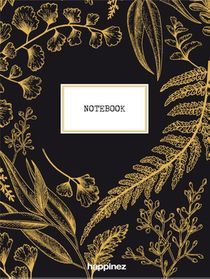 Happinez botanical notebook zwart