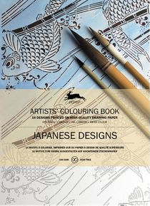 Artists colouring book Japanese designs