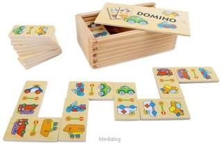 Domino Voertuigen Hout 28 Stuks