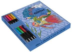 Glitter kleurboek met markers cadeaubox Coral Reef