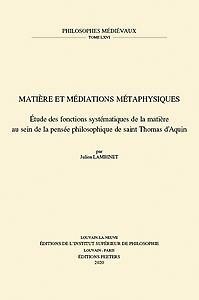 Matière et médiations métaphysiques