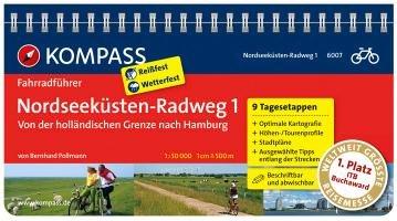 FF6007 Nordseeküsten-Radweg 1, von der holländischen Grenze nach Hamburg Kompass