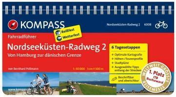 FF6008 Nordseeküsten-Radweg 2, von Hamburg zur dänischen Grenze Kompass