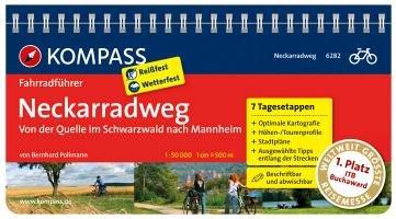 FF6282 Neckarradweg, von der Quelle im Schwarzwald nach Mannheim Kompass