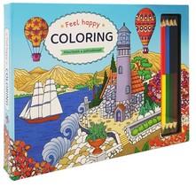 Feel Happy Coloring - Kleurboek & potlodenset
