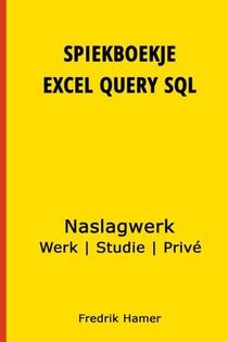Spiekboekje Excel Query SQL