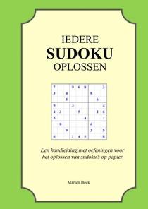 Iedere sudoku oplossen