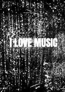 Notenschrift- Notenbalken- I love music (A5) Allets comfort