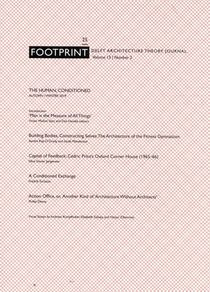 Footprint 25. The Human, Conditioned