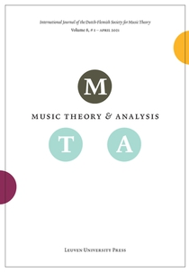 Music Theory and Analysis Volume 8 Issue 1, 2021 (Journal Subscription)