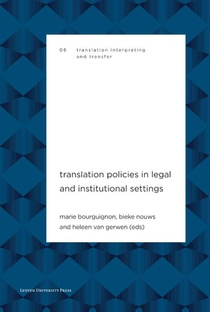 Translation Policies in Legal and Institutional Settings
